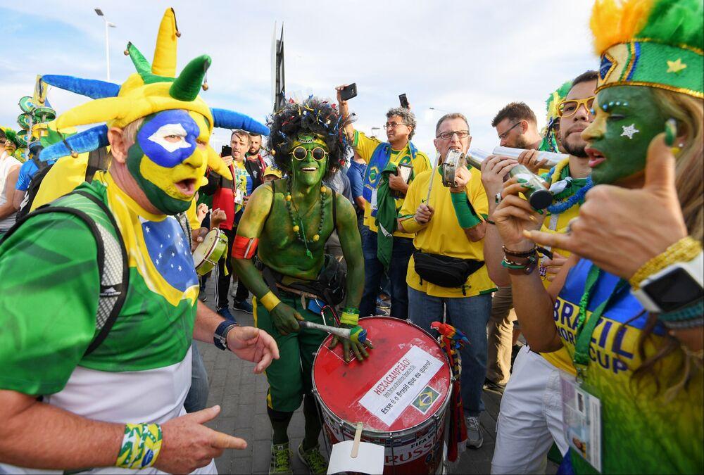 Kibice przed meczem Brazylia-Szwajcaria