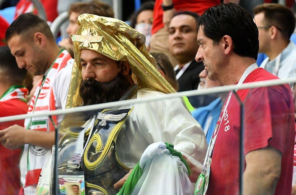 Kibice przed meczem Maroko-Iran