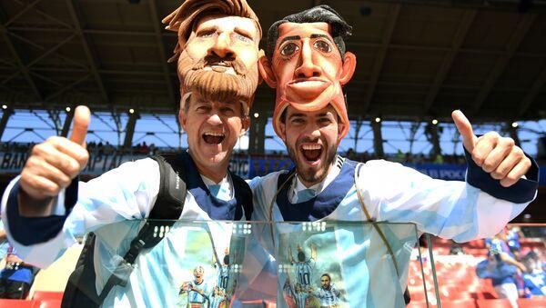 Kibice przed meczem Argentyna-Hiszpania - Sputnik Polska