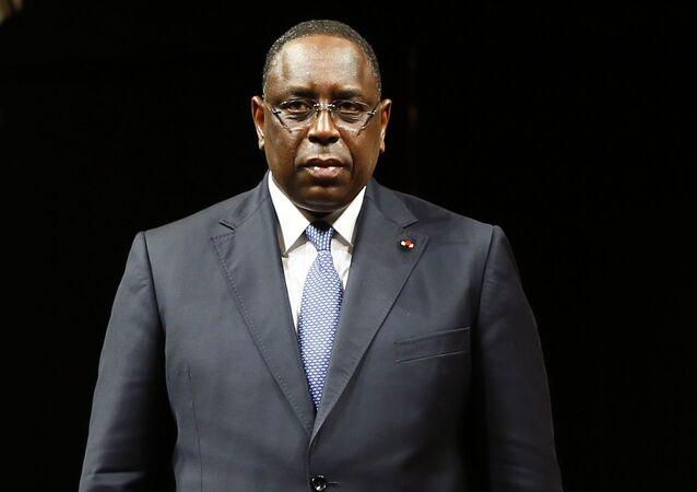 Prezydent Senegalu Macky Sall. Zdjęcie archiwalne