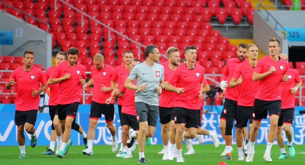 Reprezentacja Polski na treningu w Moskwie, MŚ 2018