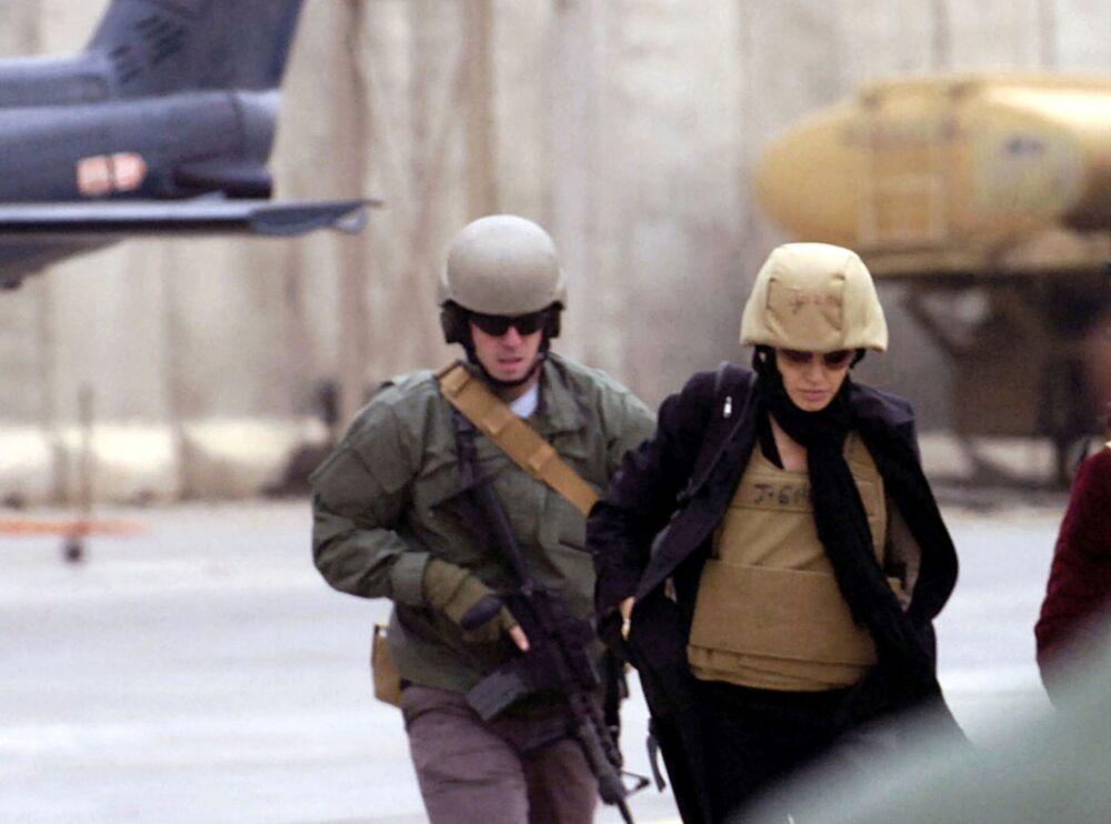 Angelina Jolie w Bagdadzie, 2008 r.