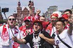 Polscy kibice w Moskwie przed meczem Polska-Senegal