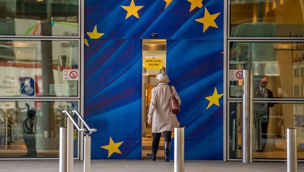 Wejście do budynku Komisji Europejskiej w Brukseli - Sputnik Polska