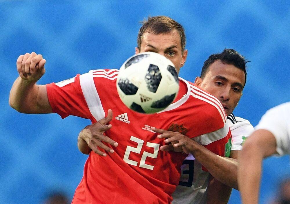 Mecz fazy grupowej Mistrzostw Świata w Piłce Nożnej między reprezentacjami Rosji i Egiptu