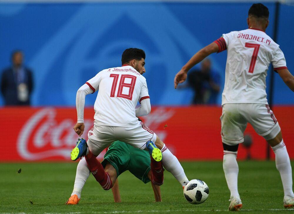 Mecz fazy grupowej Mistrzostw Świata w Piłce Nożnej między reprezentacjami Maroka i Iranu