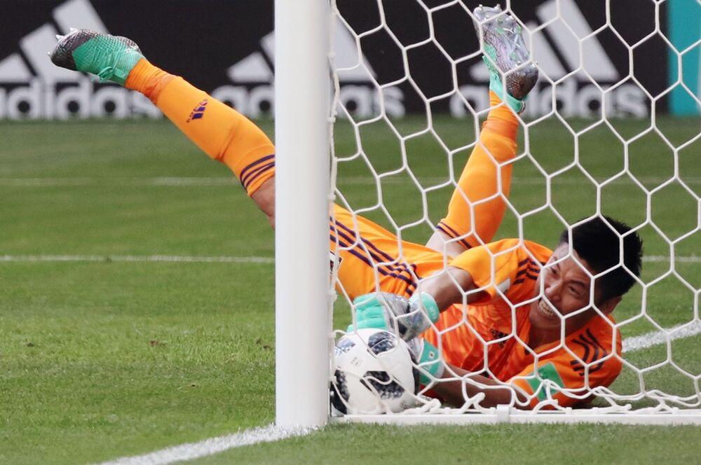 Mecz fazy grupowej Mistrzostw Świata w Piłce Nożnej między reprezentacjami Kolumbii i Japonii
