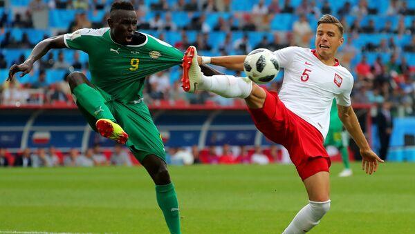 Mecz fazy grupowej Mistrzostw Świata w Piłce Nożnej między reprezentacjami Polski i Senegala - Sputnik Polska