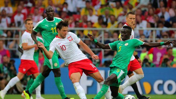Mecz fazy grupowej mistrzostw świata w piłce nożnej między reprezentacjami Polski i Senegalu - Sputnik Polska