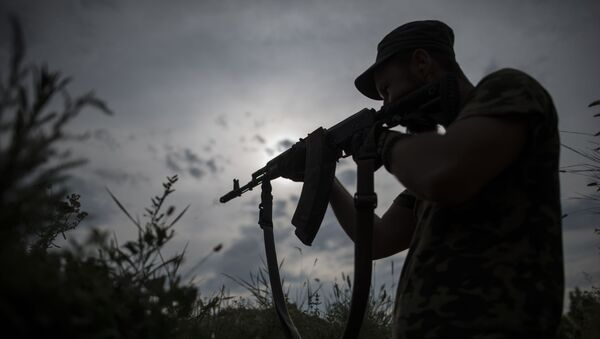 Ukraiński żołnierz z batalionu Kijów-2 - Sputnik Polska