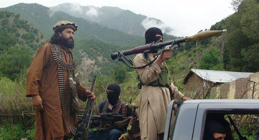 Członkowie ruchu Taliban w Południowym Waziristanie