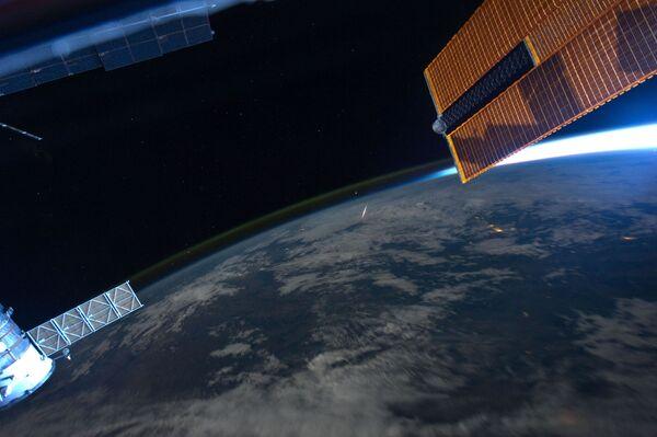 Rój meteorów Perseidy z pokładu MSK - Sputnik Polska