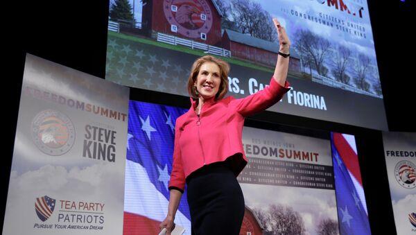 Kandydatka na prezydenta Stanów Zjednoczonych z Partii Republikańskiej Carly Fiorina - Sputnik Polska