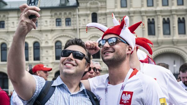 Polscy kibice w Rosji  - Sputnik Polska
