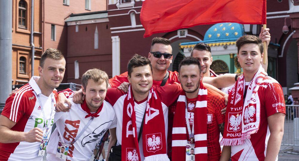 Polscy kibice w Rosji