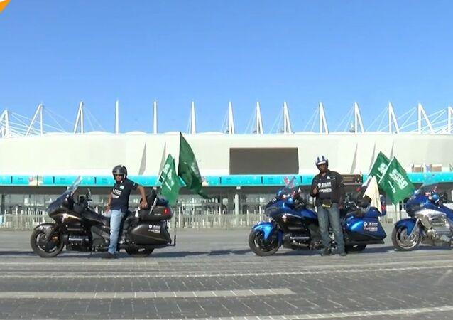 Motocykliści z Arabii Saudyjskiej