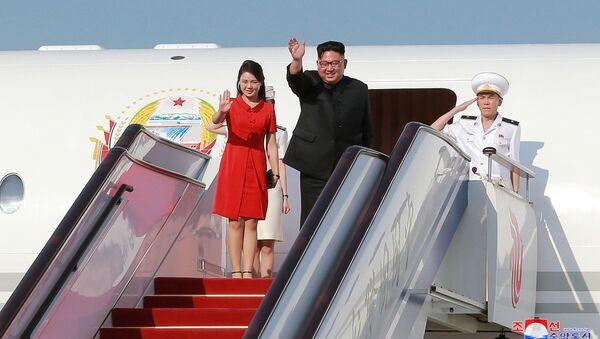 Kim Dzong Un podczas wizyty w Chinach - Sputnik Polska