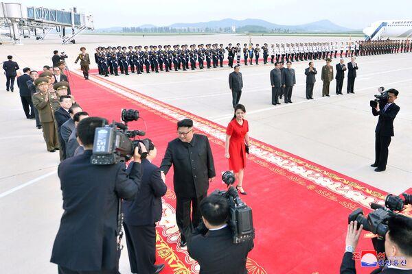 Przywódca KRLD podczas wizyty w Chinach - Sputnik Polska