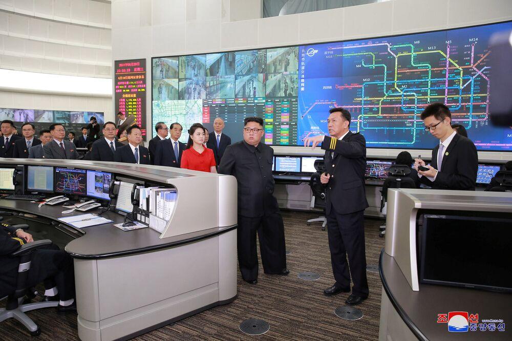 Przywódca KRLD Kim Dzong Un w Chinach