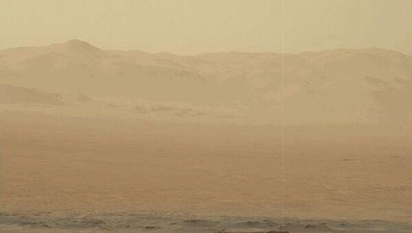 Burza piaskowa na Marsie - Sputnik Polska