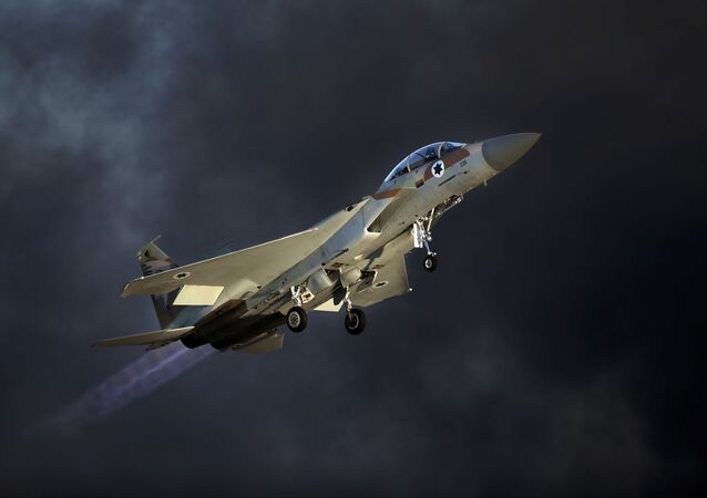 Myśliwiec F-15 sił powietrznych Izraela