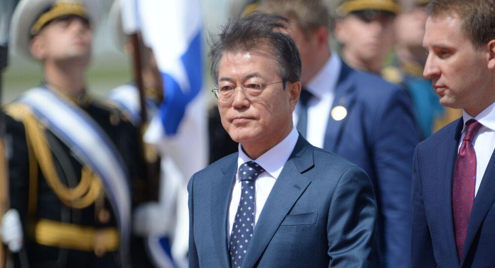 Przylot prezydenta Korei Południowej Moon Jae-ina do Moskwy