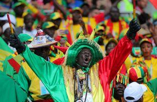 Kibic reprezentacji Senegalu podczas meczu z Polską, MŚ 2018