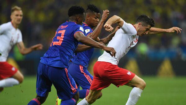 Robert Lewandowski na meczu Polska - Kolumbia w Kazaniu - Sputnik Polska