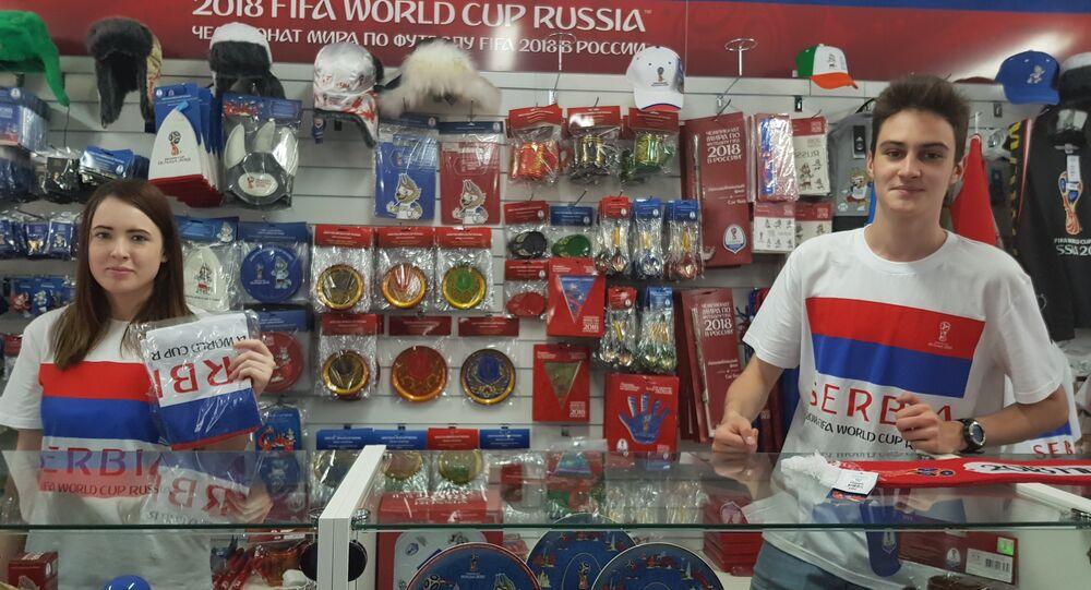 """Oficjalny sklep z pamiątkami """"Puchar Świata FIFA. Rosja 2018"""" jest zdominowany przez serbskie symbole"""