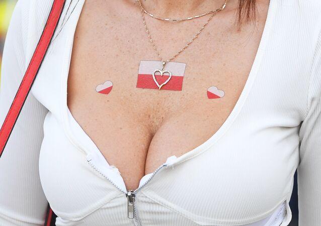 Polska kibicka przed meczem Polska-Kolumbia