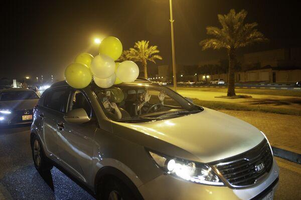 Kobiety świętują pierwszy wyjazd samochodem, Arabia Saudyjska - Sputnik Polska
