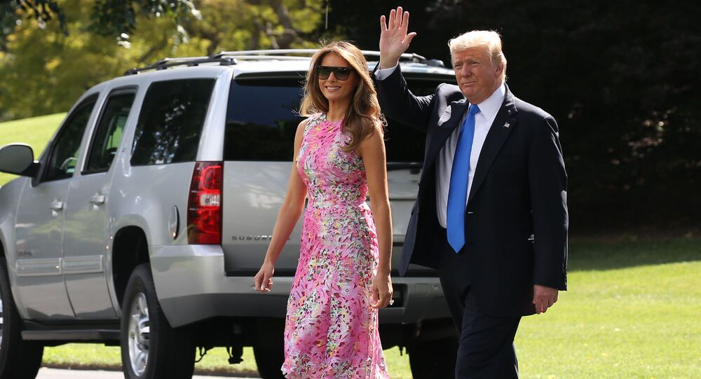 Prezydent USA Donald Trump z małżonką Melanią