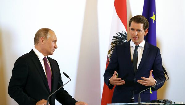 Sebastian Kurz i Władimir Putin - Sputnik Polska