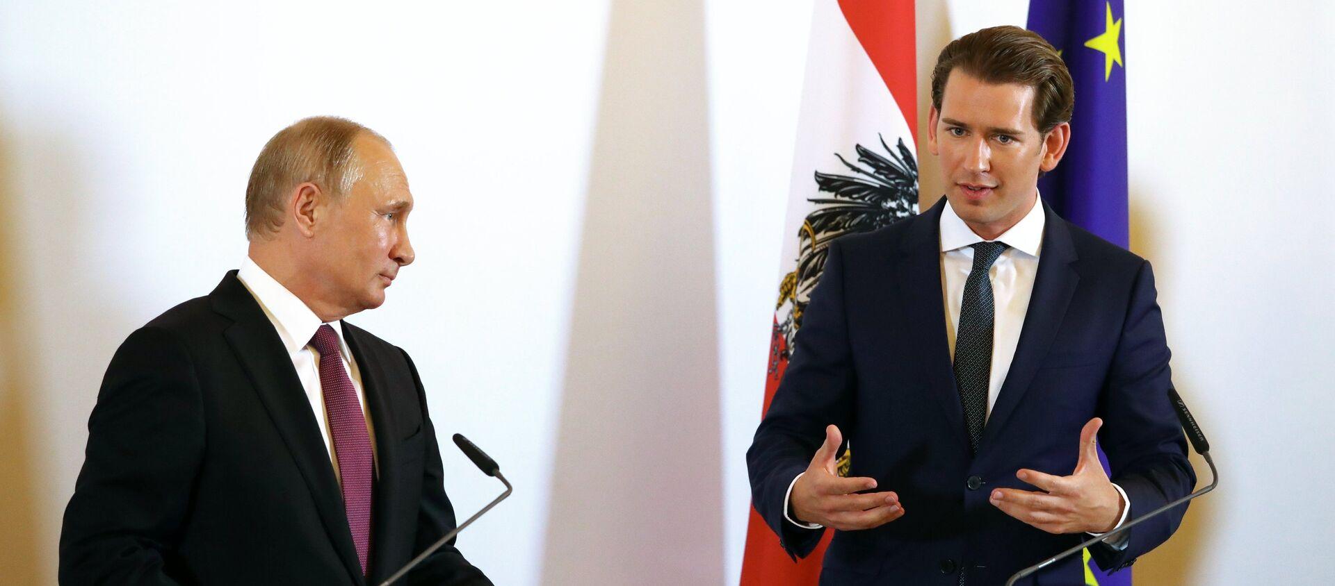 Sebastian Kurz i Władimir Putin - Sputnik Polska, 1920, 07.04.2021