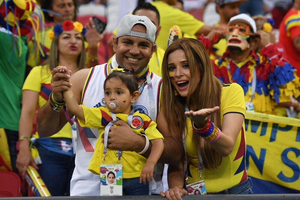 Kolumbijska rodzina na meczu w Kazaniu
