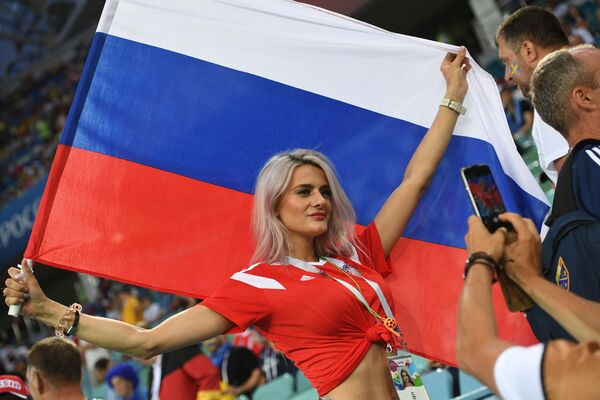Rosyjska kibicka na meczu Niemcy - Szwecja - Sputnik Polska