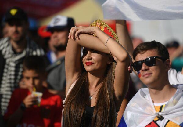 Zdjęcie ze strefy kibica podzas meczu Rosja - Urugwaj - Sputnik Polska