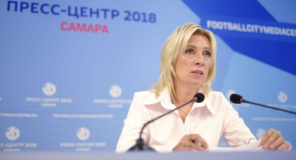 Briefing rzeczniczki MSZ Rosji Marii Zacharowej w Samarze