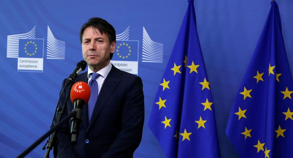 Premier Włoch Giuseppe Conte w Brukseli