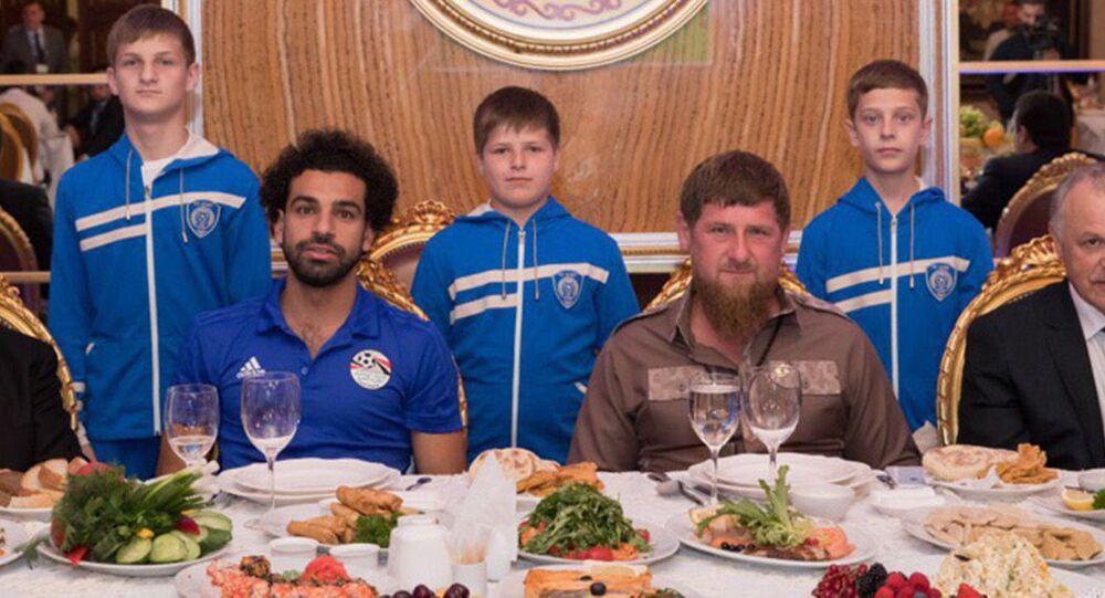 Uroczysta kolacja na cześć reprezentacji Egiptu z udziałem Ramzana Kadyrowa