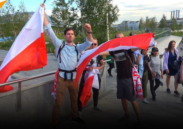 Kibice o pobycie w Moskwie