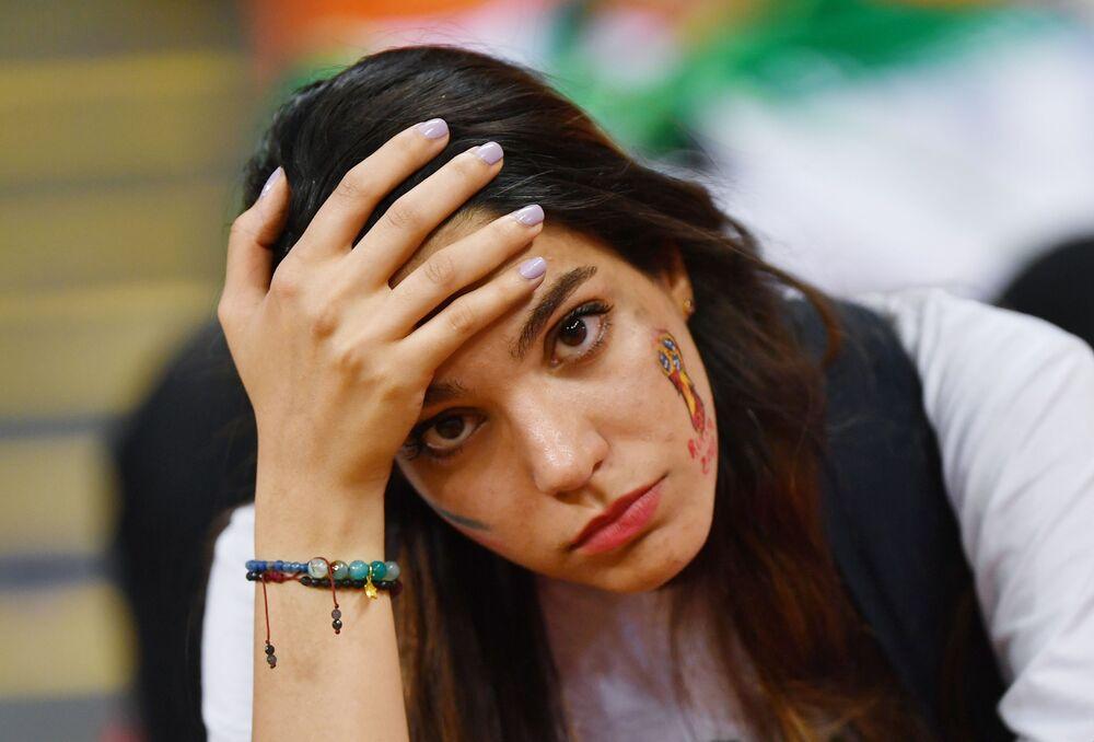 Kibicka rezprezentacji Iranu podczas meczu MŚ 2018 Iran-Portugalia