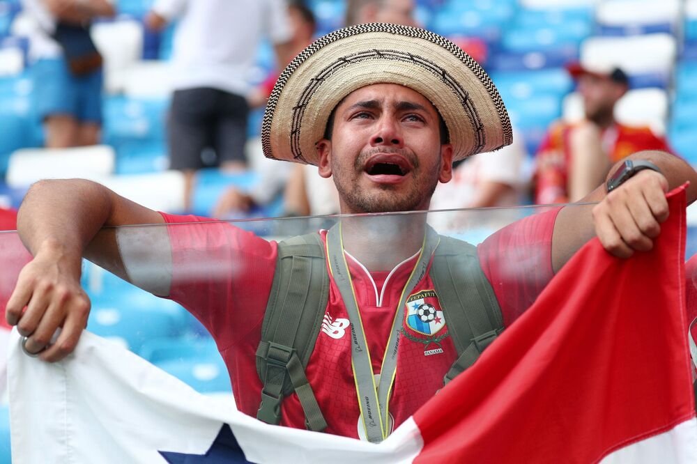 Kibic reprezentacji Panamy na meczu MŚ 2018 Anglia-Panama