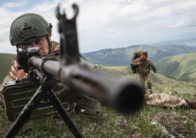 Ćwiczenia żołnierzy Południowego Okręgu Wojskowego