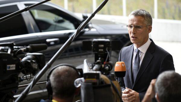 Sekretarz generalny NATO Jens Stoltenberg w Luksemburgu - Sputnik Polska