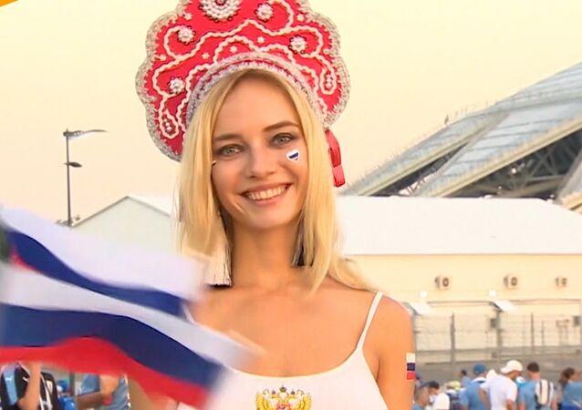 Najgorętsza kibicka Rosja - gwiazda porno?!