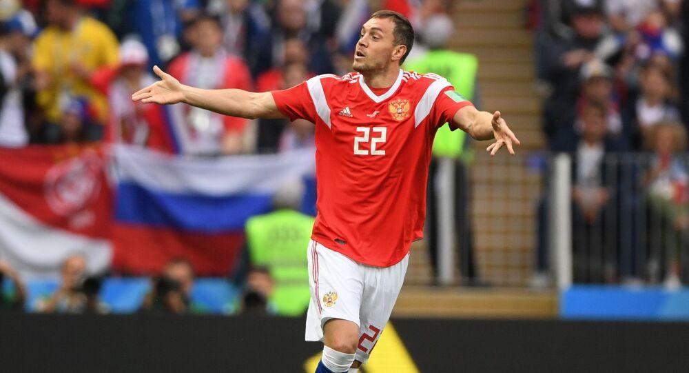 Napastnik reprezentacji Rosji w piłce nożnej Artem Dziuba