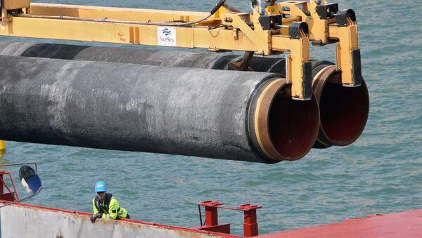 Budowa gazociągu na dnie Bałtyku w ramach realizacji projektu Nord Stream - Sputnik Polska