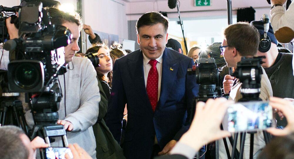 Były gubernator obwodu odesskiego Michaił Saakaszwili