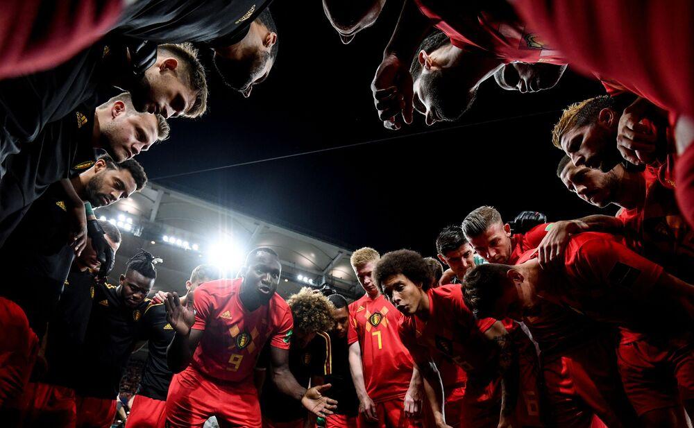 Reprezentacja Belgii przed meczem z Japonią